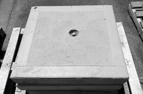 Concrete Lid Square Supplied by Saddingtons