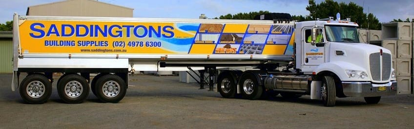Saddintons Building Supplies Truck