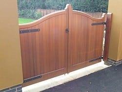 Bow Top Cedar Door
